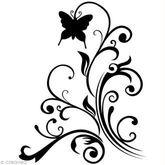Tampon Noël - Volute Papillon - 5,5 x 4,5 cm