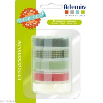 Recharge pour étiqueteuse Click Click Artemio - Ass. 5 rubans Set 1