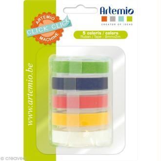 Recharge pour étiqueteuse Click Click Artemio - Ass. 5 rubans Set 2