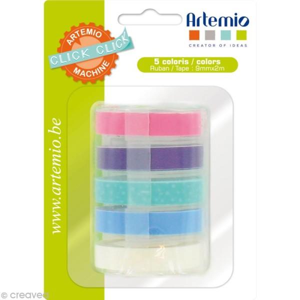 Recharge pour étiqueteuse Click Click Artemio - Ass. 5 rubans Set 3 - Photo n°1