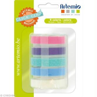 Recharge pour étiqueteuse Click Click Artemio - Ass. 5 rubans Set 3