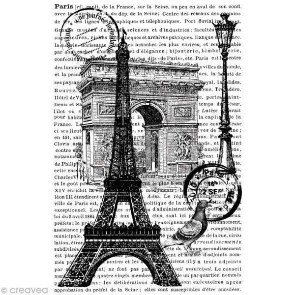 Tampon Cling - Paris - 10 x 14,5 cm - Photo n°1