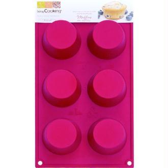 Moule en silicone ScrapCooking multi 6 Muffins 7 cm