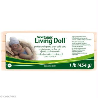 Super Sculpey - Living doll Beige bébé - 454 gr