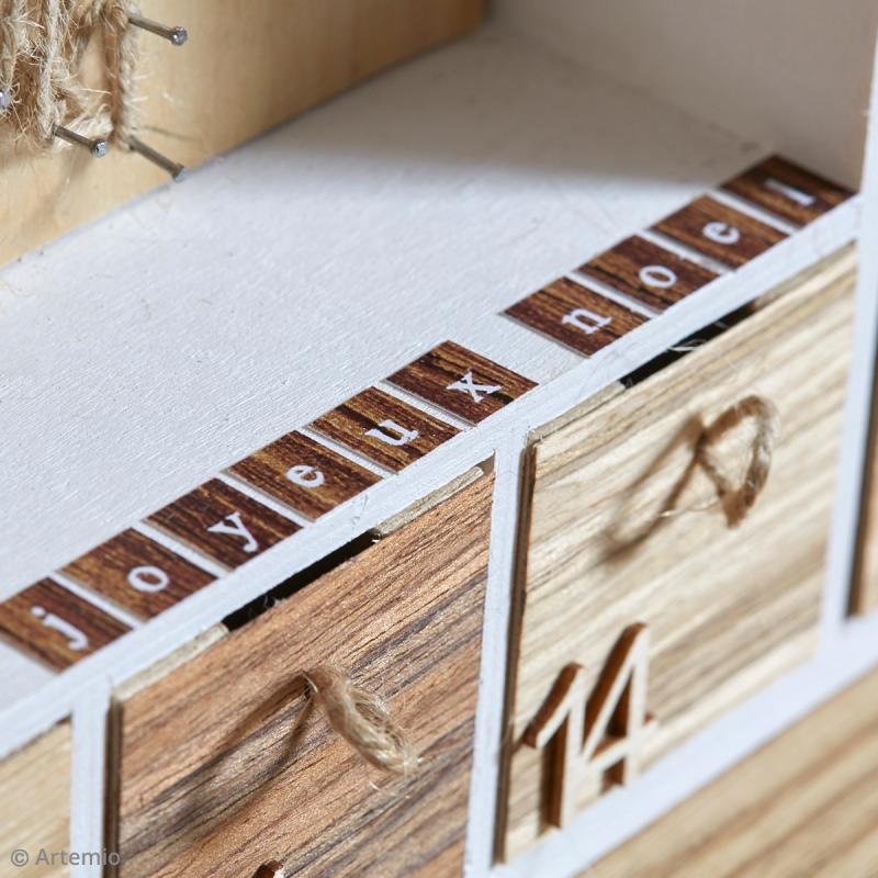 calendrier de l 39 avent en bois d corer cadre g ant 39. Black Bedroom Furniture Sets. Home Design Ideas