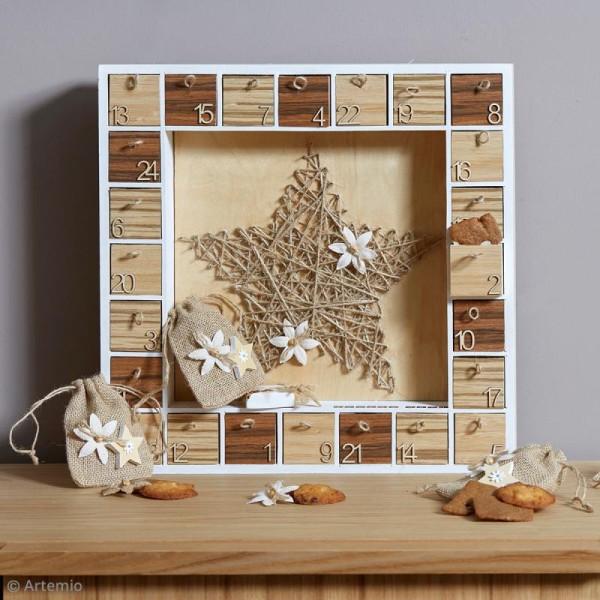 Calendrier de l'avent en bois à décorer - Cadre géant - 39,5 cm - Photo n°2