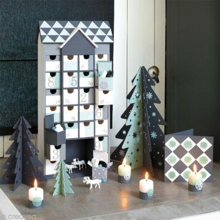 calendrier de l 39 avent en bois d corer maison g ante 50 5 cm calendrier de l 39 avent creavea. Black Bedroom Furniture Sets. Home Design Ideas