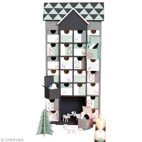 calendrier de l 39 avent en bois d corer maison g ante. Black Bedroom Furniture Sets. Home Design Ideas