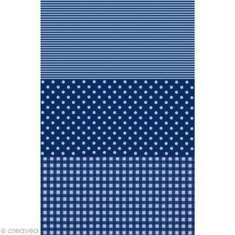 Décopatch Bleu 599 - 1 feuille