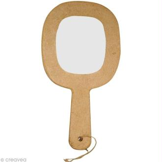 Miroir à main en papier mâché - 11,5 cm