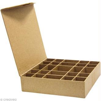 Boîte 25 casiers en papier mâché - 20,5 cm