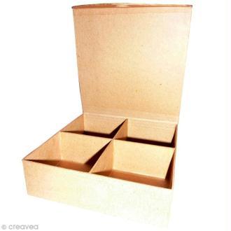 Boîte 4 casiers en papier mâché - 20,5 cm
