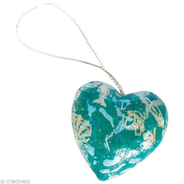 Coeurs en papier mâché - 10 pièces de 4 cm - Photo n°2