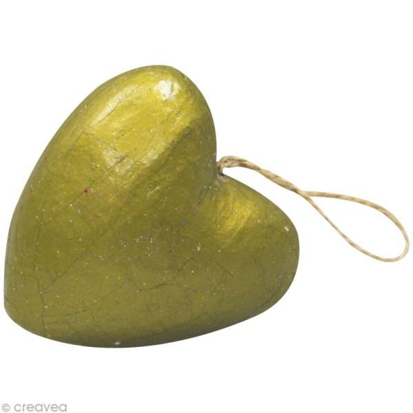 Coeurs en papier mâché - 10 pièces de 4 cm - Photo n°3