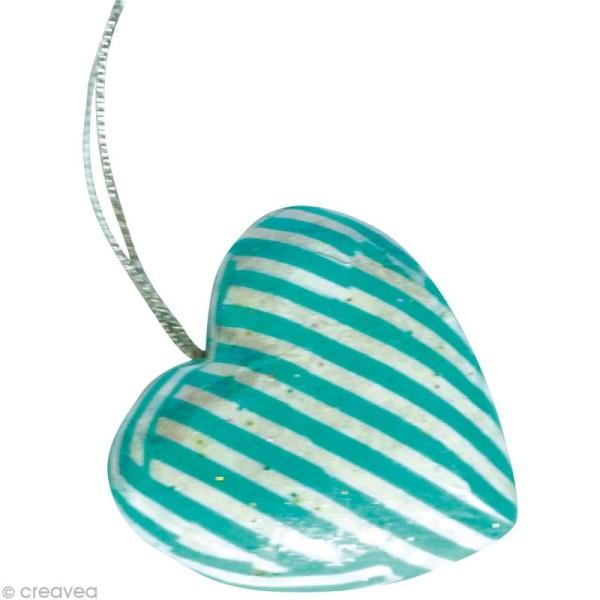 Coeurs en papier mâché - 10 pièces de 4 cm - Photo n°5