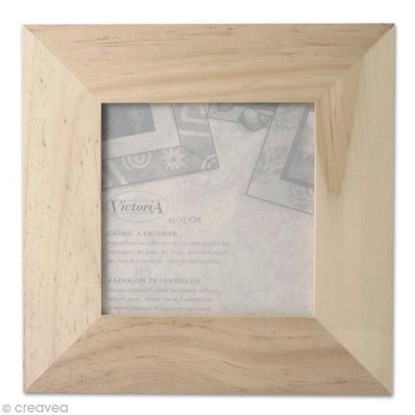 Cadre photo en bois - format photo 13 x 13 cm - Photo n°1