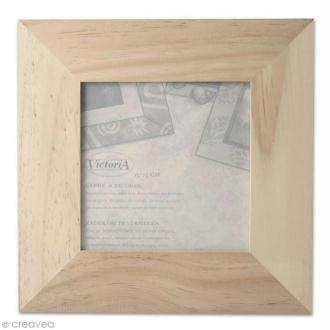 Cadre photo en bois - format photo 13 x 13 cm