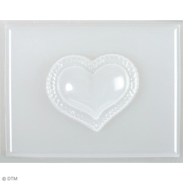 Mini moule thermoformé savon Coeur dentelle - 5,5 x 4,5 cm - Photo n°2