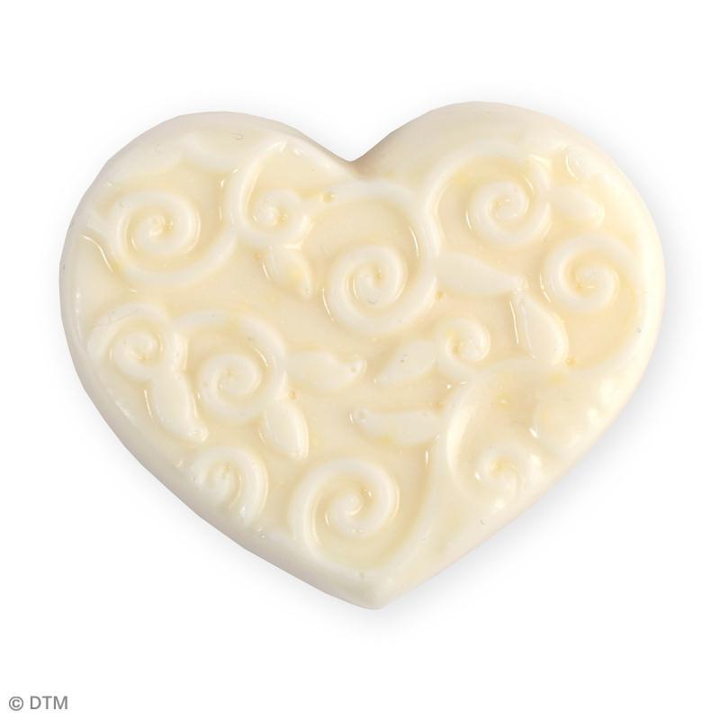 Mini moule thermoformé savon coeur arabesques - 6 x 5 cm - Photo n°2