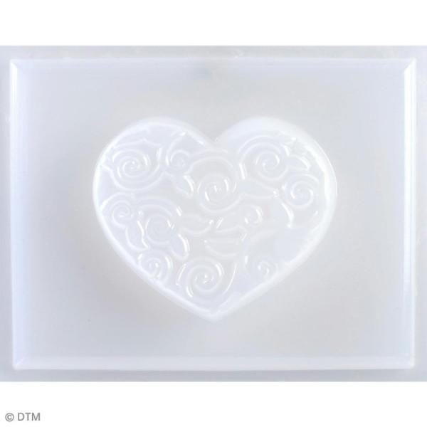Mini moule thermoformé savon coeur arabesques - 6 x 5 cm - Photo n°1