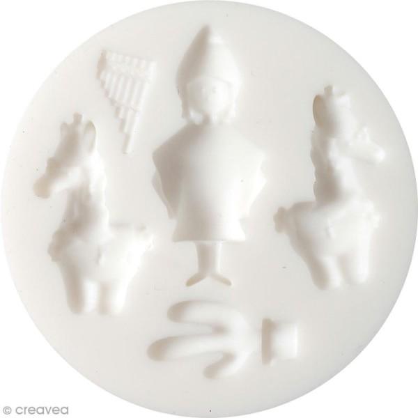 Mini moule en silicone - Amérique du sud - 7 cm de diamètre - 5 formes - Photo n°1