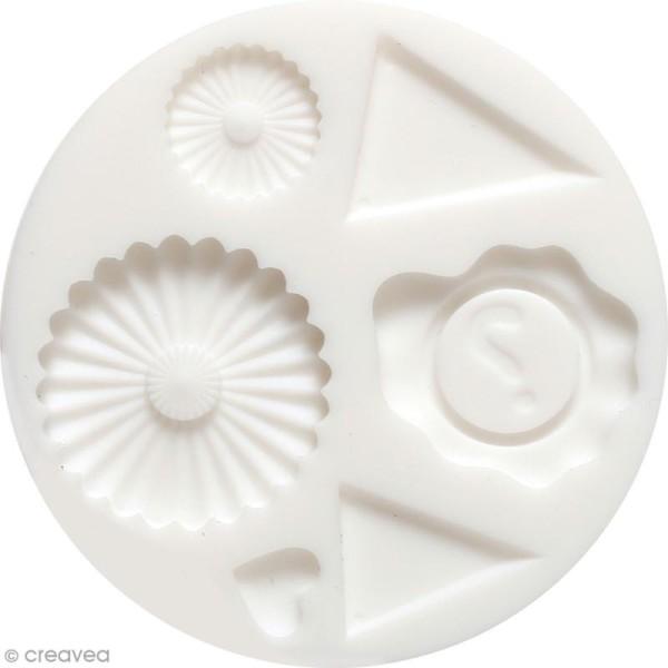 Mini moule en silicone - Décoration - 7 cm de diamètre - 6 formes - Photo n°1