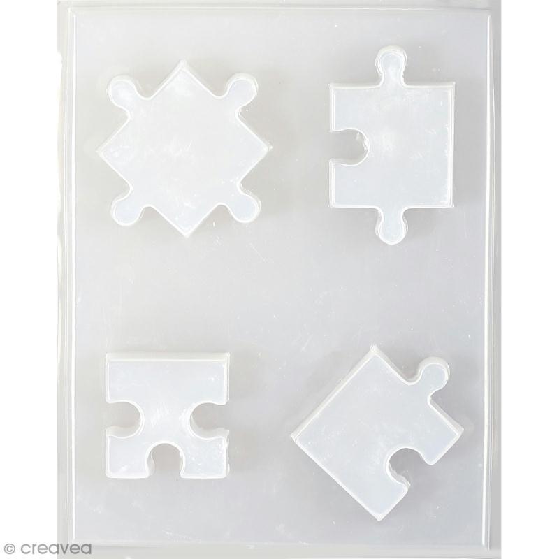 Moule thermoformé Puzzle - 4 pcs - Photo n°1