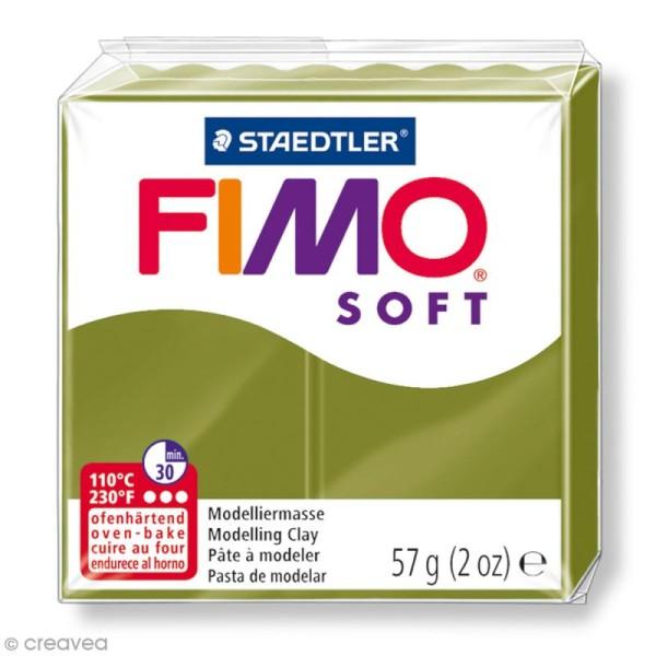 Pâte Fimo soft Vert olive 57 - 57 g - Photo n°1