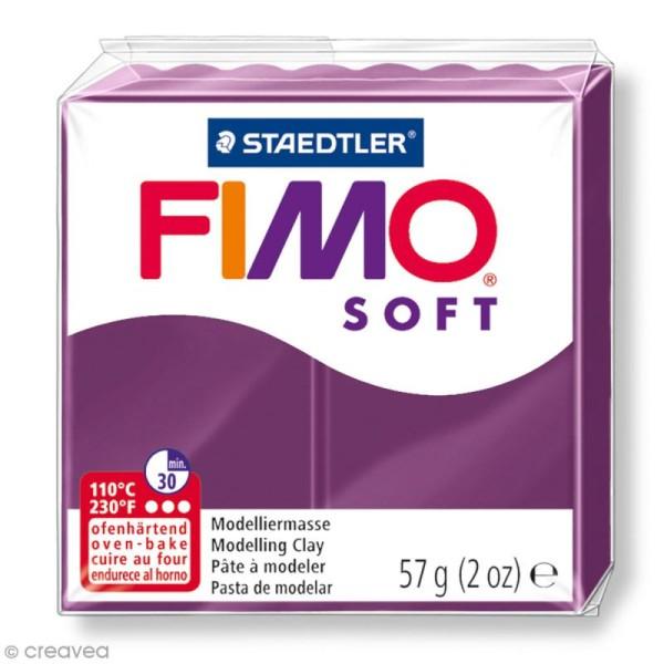 Pâte Fimo soft Violet royal 66 - 57 g - Photo n°1
