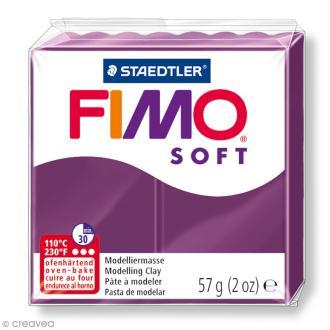Pâte Fimo soft Violet royal 66 - 57 g