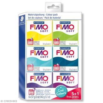 Assortiment Fimo Soft - Couleurs froides - 6 pains de 57 g
