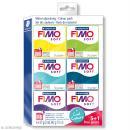 Assortiment Fimo Soft - Couleurs froides - 6 pains de 57 g - Photo n°1