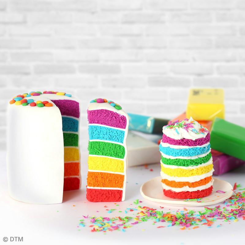 Mallette figurine Fimo - Rainbow cake - 13 pcs - Photo n°3