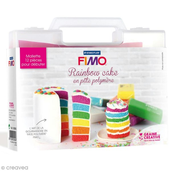 Mallette figurine Fimo - Rainbow cake - 13 pcs - Photo n°1