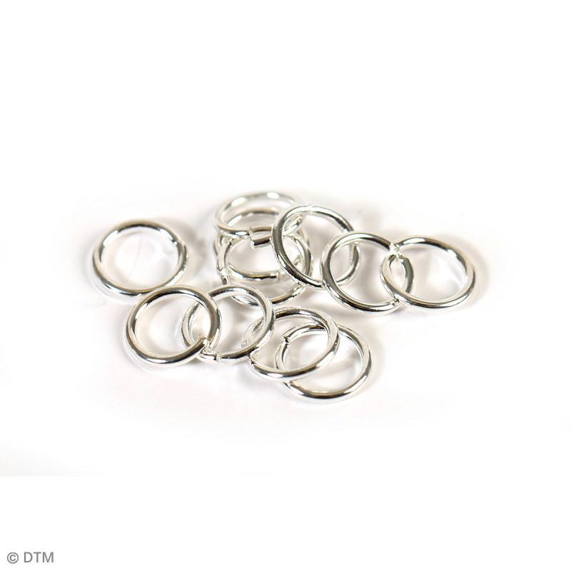 Kit apprêts bijoux argentés - Environ 400 pcs - Photo n°5