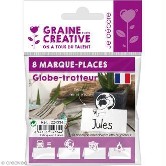 8 Marque-places - Globe trotteur