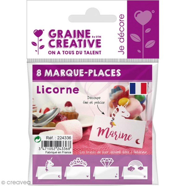 8 Marque-places - Licorne - Photo n°1