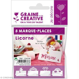 8 Marque-places - Licorne
