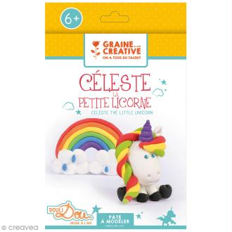 Kit pâte à modeler - Céleste la petite licorne