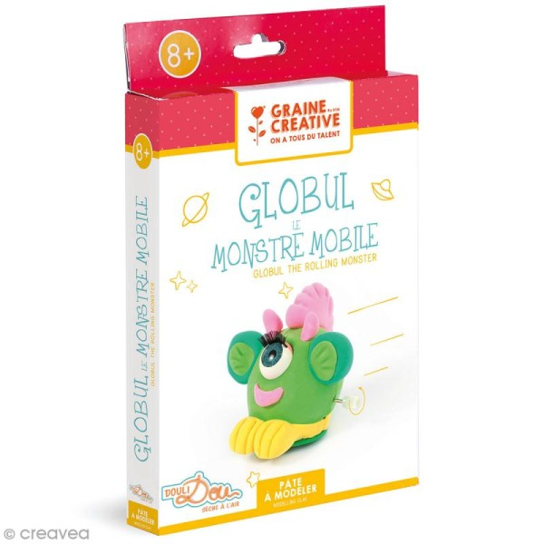 Kit pâte à modeler - Globul le monstre qui roule - Photo n°1