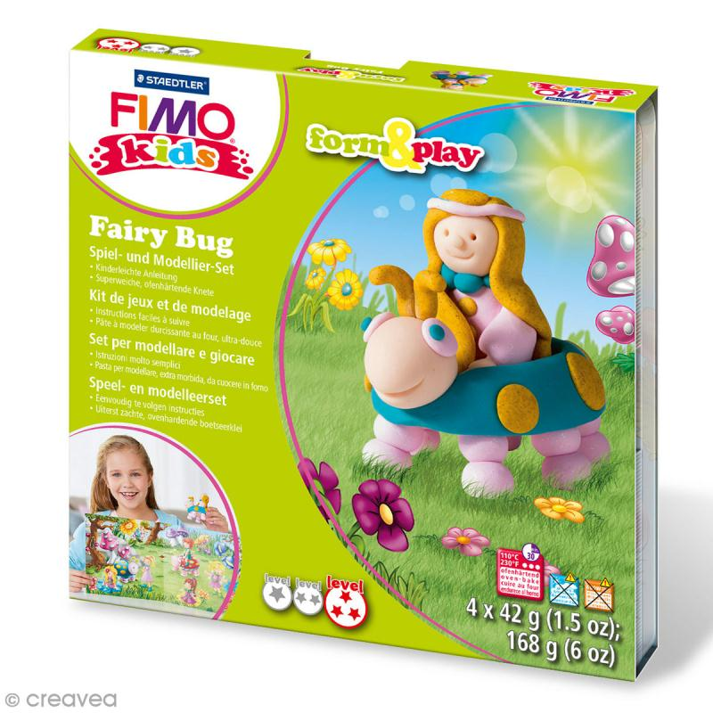 Kit Fimo Kids - Fée insecte - niveau difficile - Photo n°1