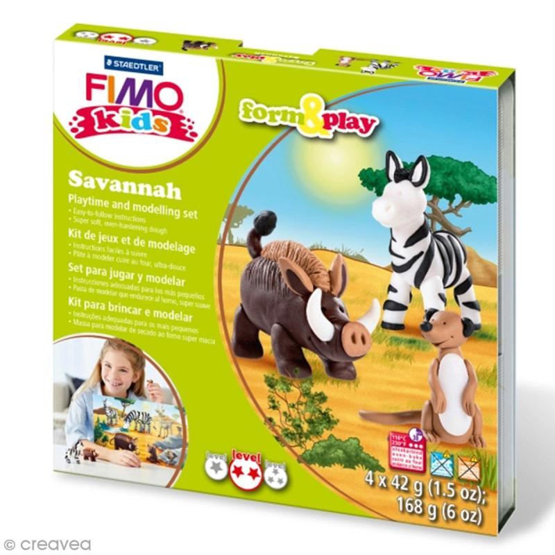 Kit Fimo Kids - Savane - niveau moyen - Photo n°1