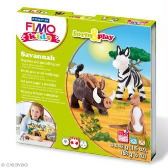 Kit Fimo Kids - Savane - niveau moyen