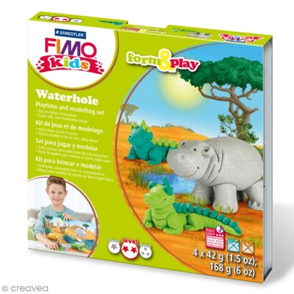 Kit Fimo Kids - Safari - niveau moyen - Photo n°1