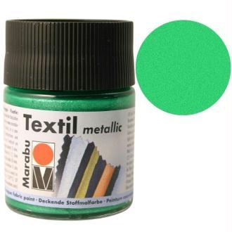 Peinture pour tissu Textil Metallic vert clair 50 ml
