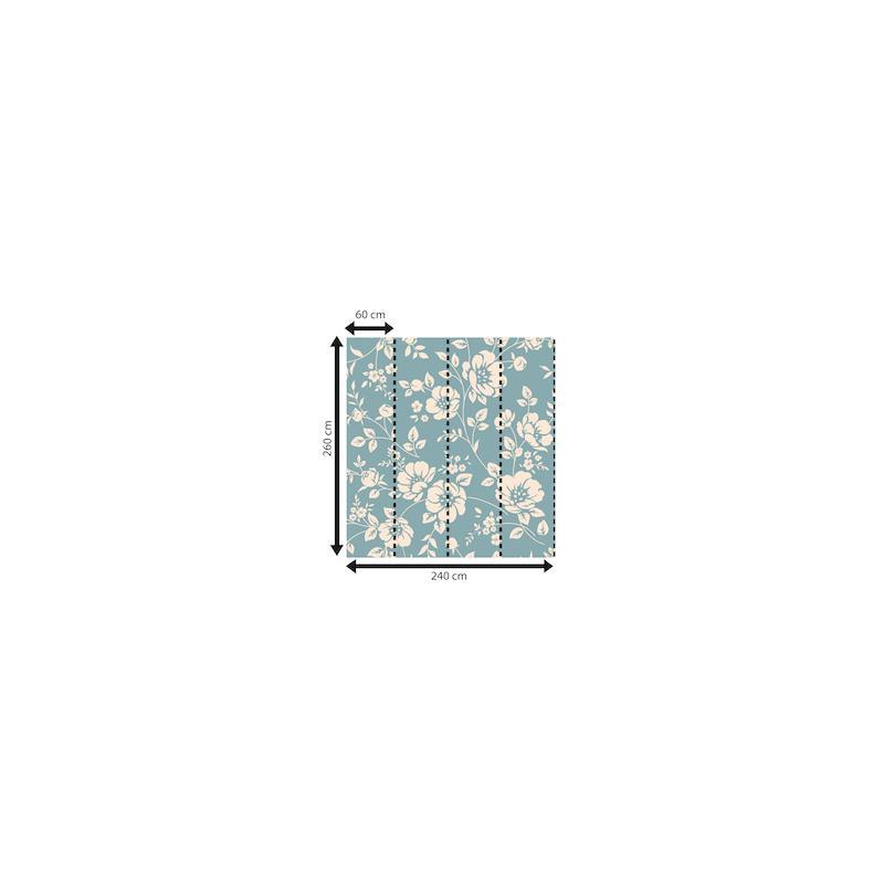 Papier peint d tails de fleur 260 x 240 cm papier - Idee papier peint salon ...