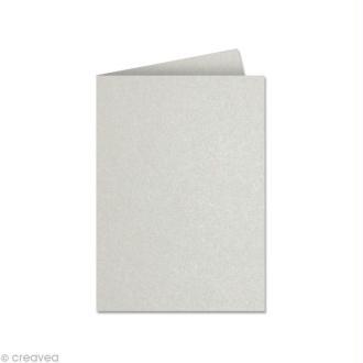 Papier Pollen carte double 110 x 155 Rose poudré irisé x 25