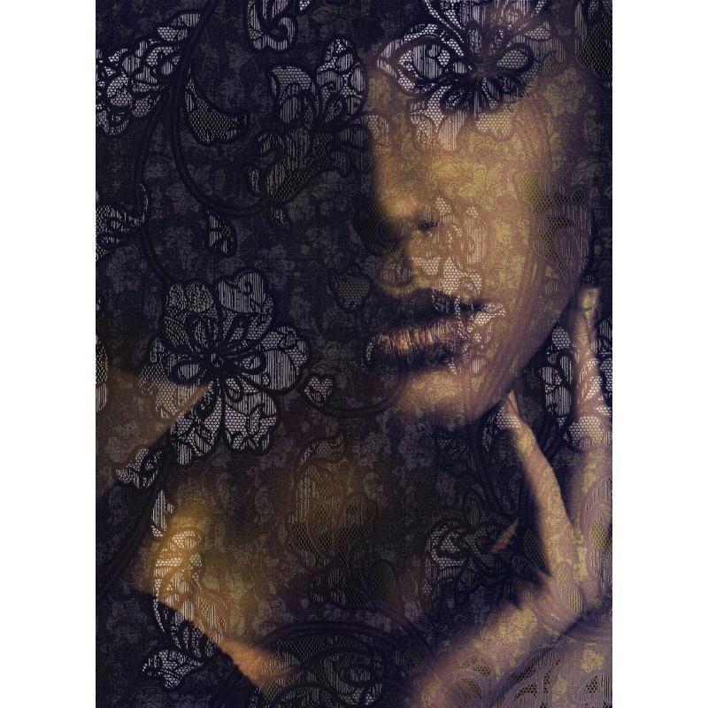 Papier peint dentelle 184 x 248 cm papier imitation - Papier peint intisse cuisine ...
