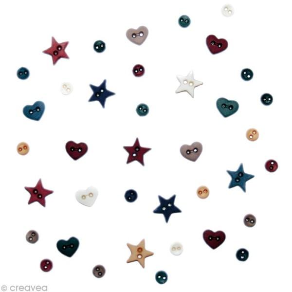 Bouton décoratif - Mini Petites constellations x 10 gr - Photo n°1