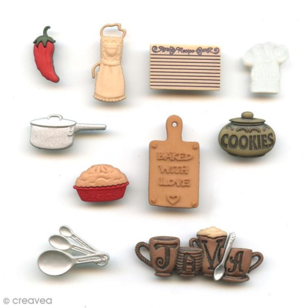 Bouton décoratif - Maison - Dans la cuisine x 10 - Photo n°1